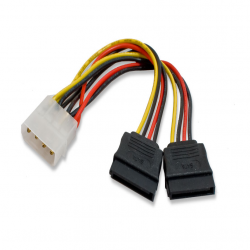 SYBA Molex to 2x SATA Power Cable - SY-CAB40007