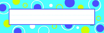 Blue Fizz Desk Topper Name Plates - T-69039 - T-69039