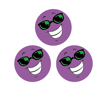 Stinky Stickers Purple Smiles/grape - T-83205 - T-83205