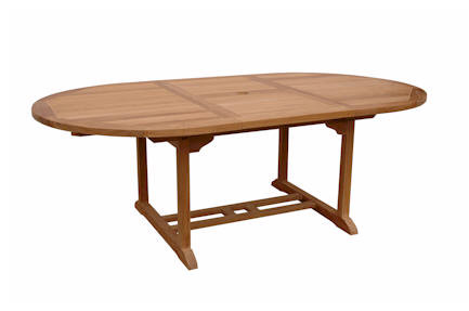 Anderson Teak Bahama 87 Inch Oval Extension Table Extra Thick Wood