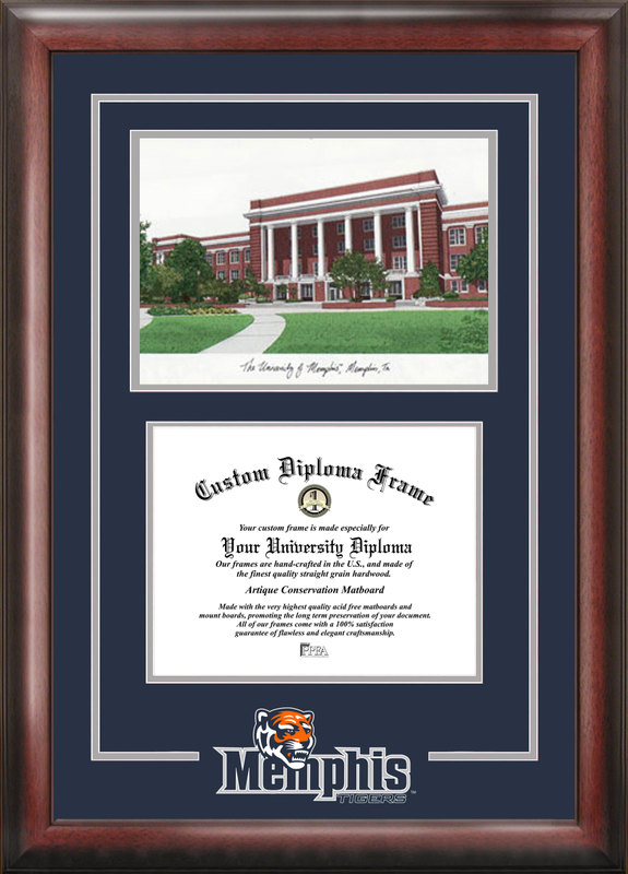 University of Memphis Spirit Graduate Frame with Campus Image