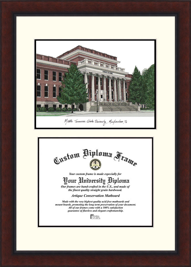 Middle Tennessee State  Legacy Scholar Diploma Frame