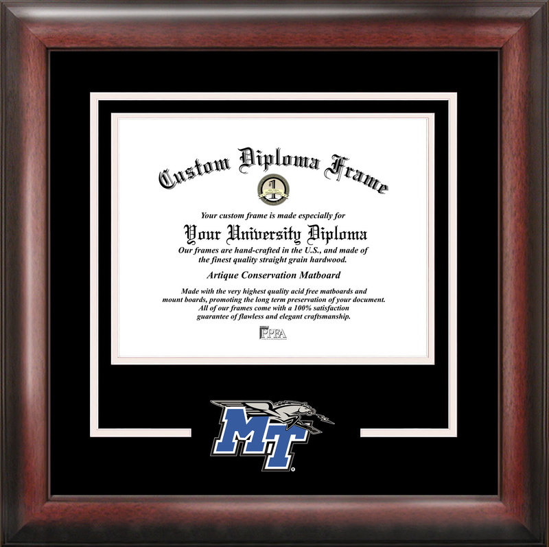 Middle Tennessee State Spirit Diploma Frame