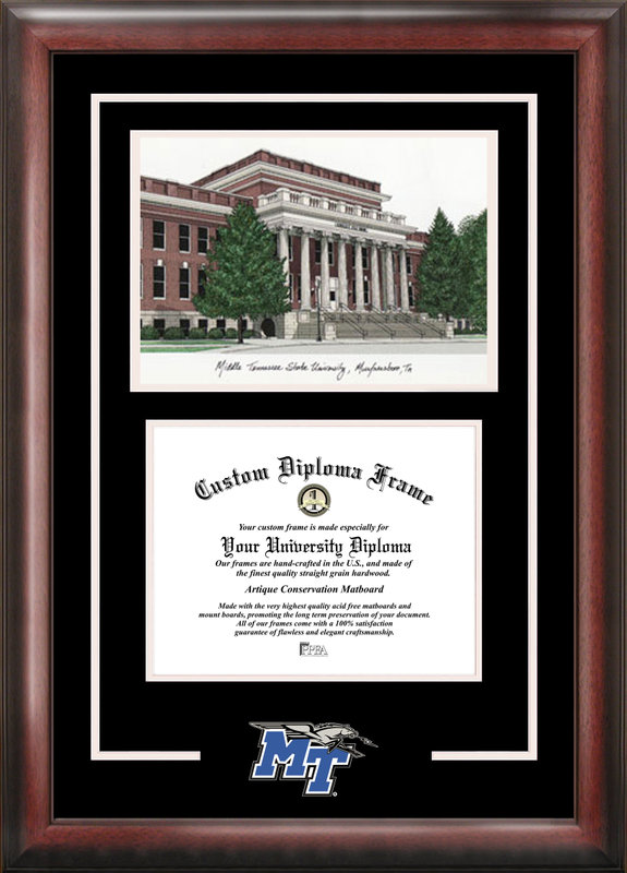 Middle Tennessee State Spirit Graduate Frame with Campus Image