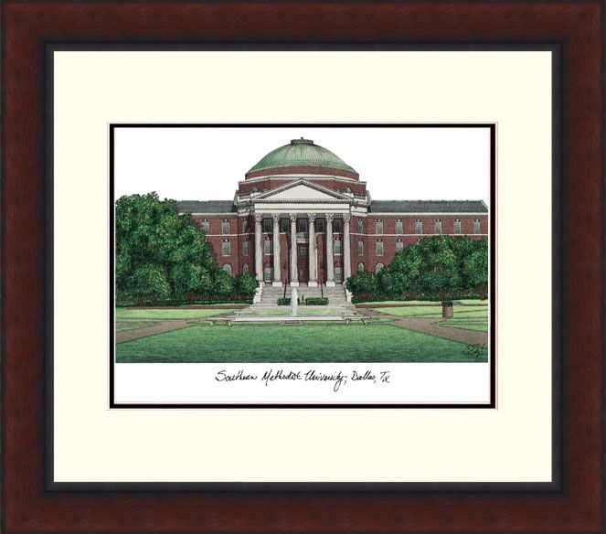 Southern Methodist University Legacy Alumnus Framed Lithograph
