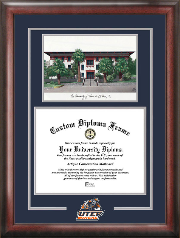 University of Texas, El Paso Spirit Graduate Frame with Campus Image