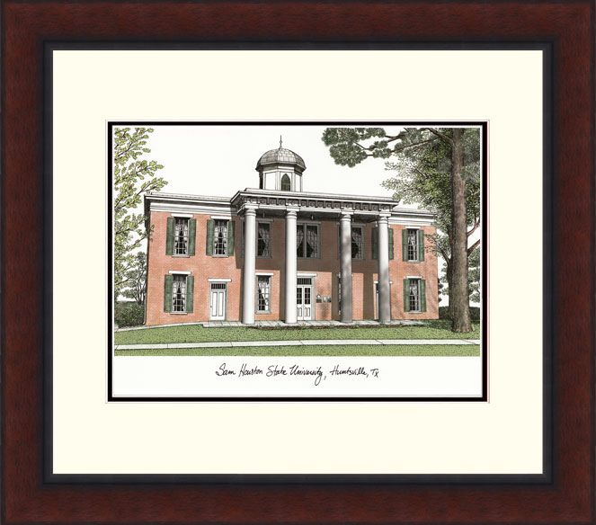 Sam Houston State Legacy Alumnus Framed Lithograph