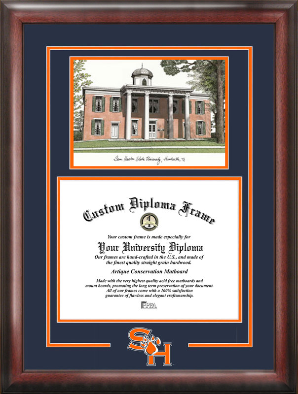 Sam Houston State Spirit Graduate Frame with Campus Image