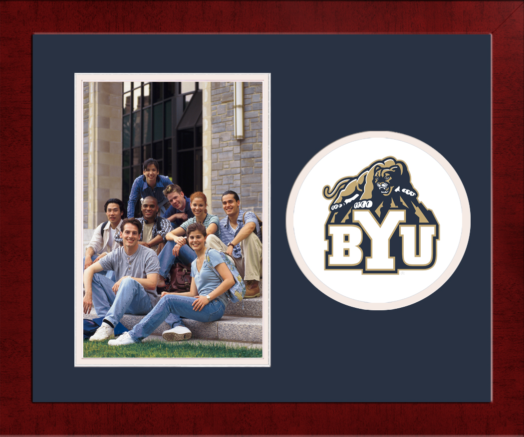 Brigham Young University Spirit Photo Frame (Vertical)