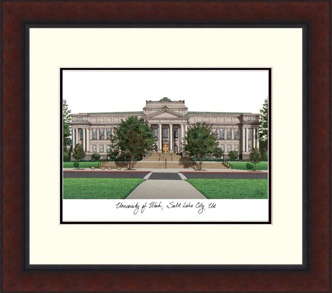 University of Utah Legacy Alumnus Framed Lithograph