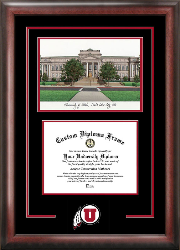 University of Utah Spirit Graduate Frame with Campus Image