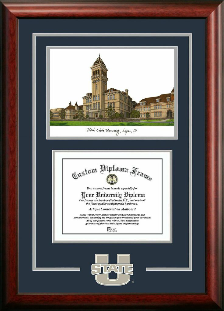 Utah State University Spirit Graduate Frame with Campus Image
