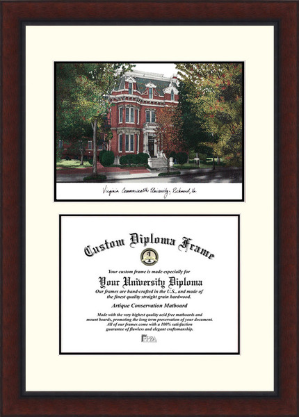 Virginia Commonwealth University   Legacy Scholar Diploma Frame