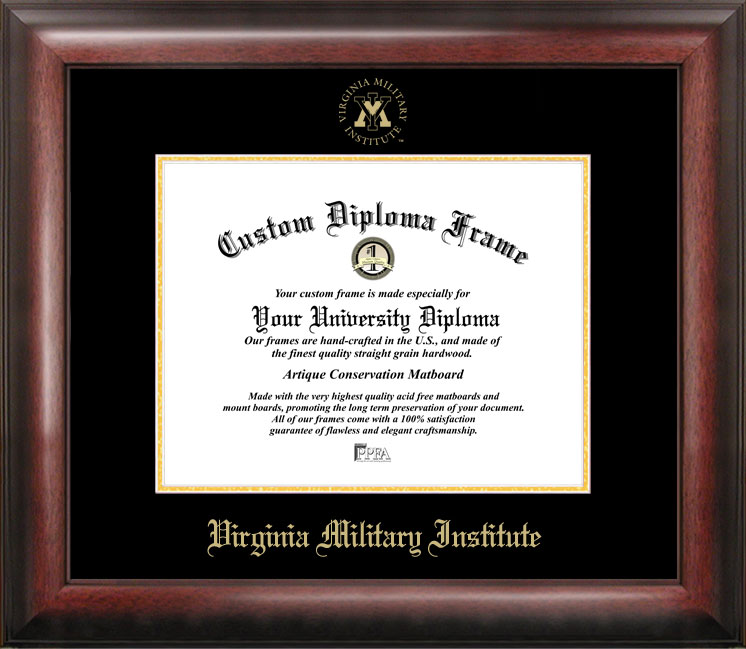 Virginia Military Institute Gold Embossed Diploma Frame