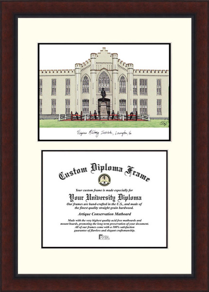 Virginia Military Institute  Legacy Scholar Diploma Frame