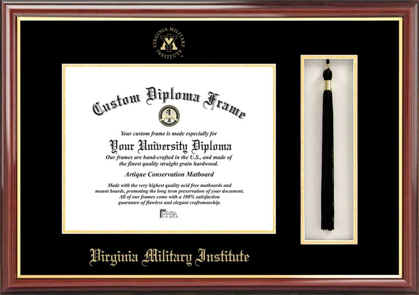 Virginia Military Institute  Tassel Box and Diploma Frame