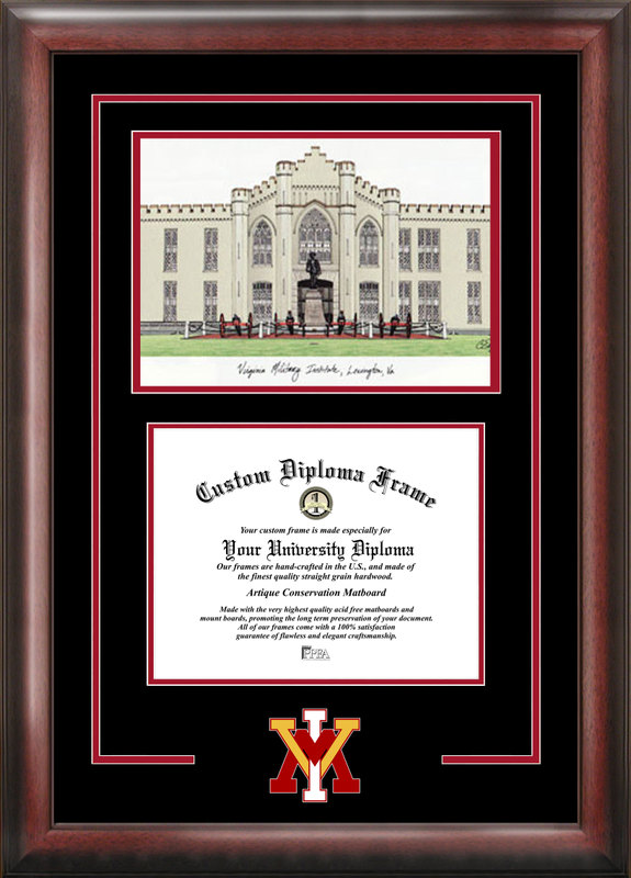 Virginia Military Institute Spirit Graduate Frame with Campus Image