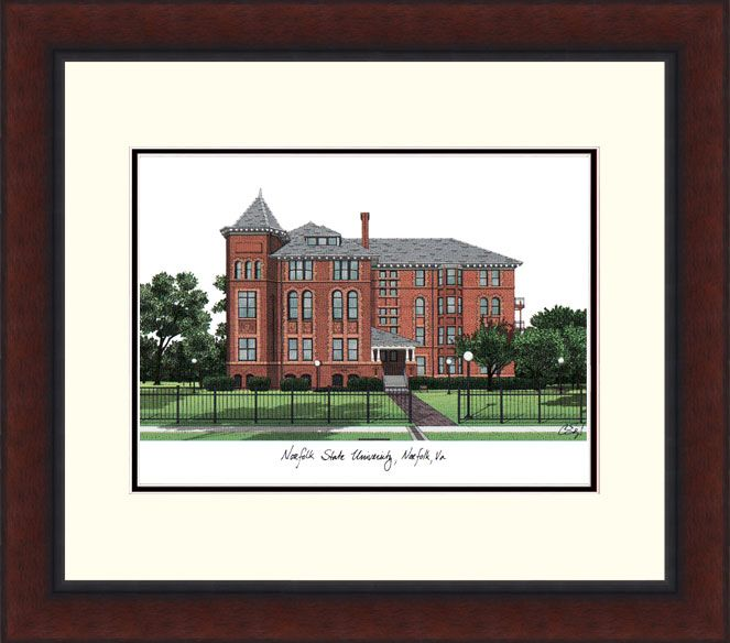 Norfolk State Legacy Alumnus Framed Lithograph