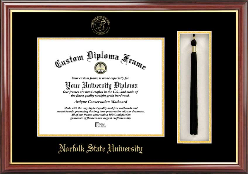 Norfolk State  Tassel Box and Diploma Frame