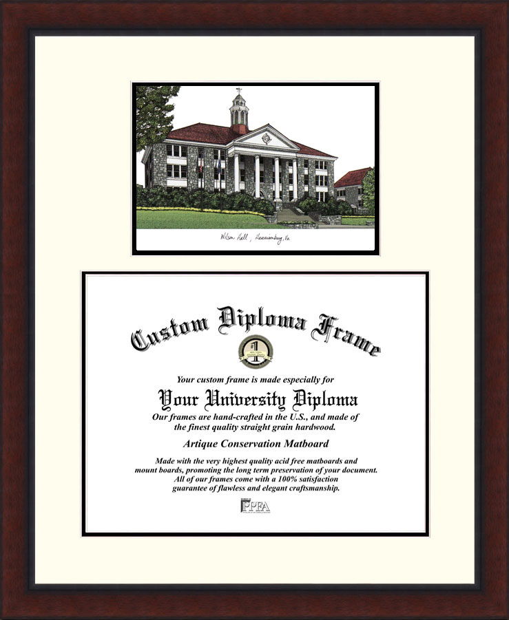 James Madison University  Legacy Scholar Diploma Frame