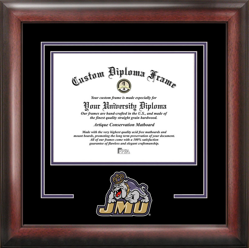James Madison University Spirit Diploma Frame