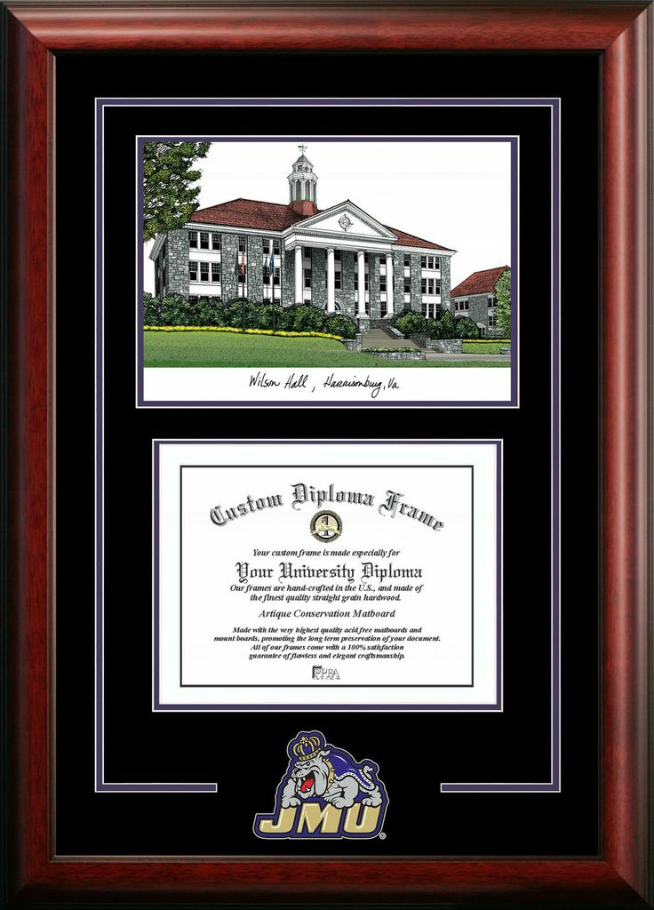James Madison University Spirit Graduate Frame with Campus Image
