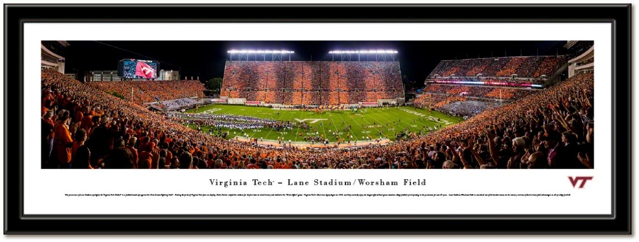 Virginia Tech Framed Stadium Print