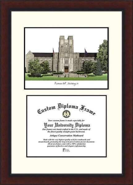 Virginia Tech Legacy   Scholar Diploma Frame