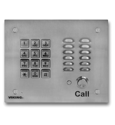 Viking Electronics Handsfree Phone w/ Key Pad - Stainless - VK-K-1700-3