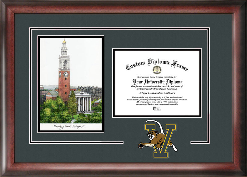 University of Vermont  Spirit Graduate Frame with Campus Image