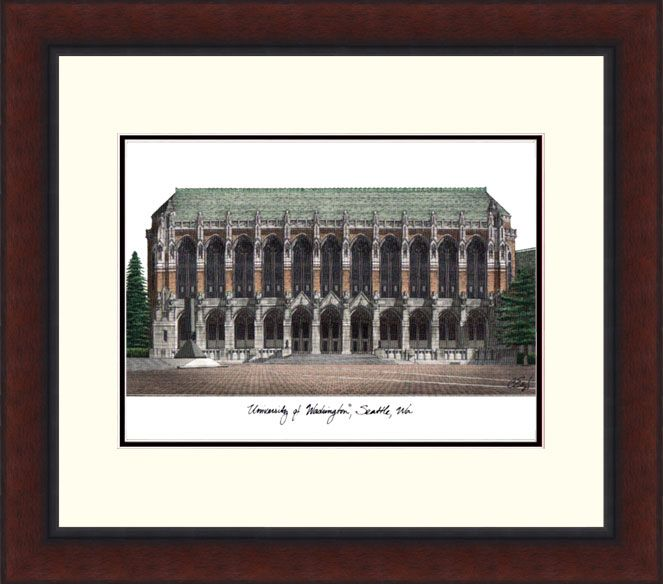University of Washington Legacy Alumnus Framed Lithograph