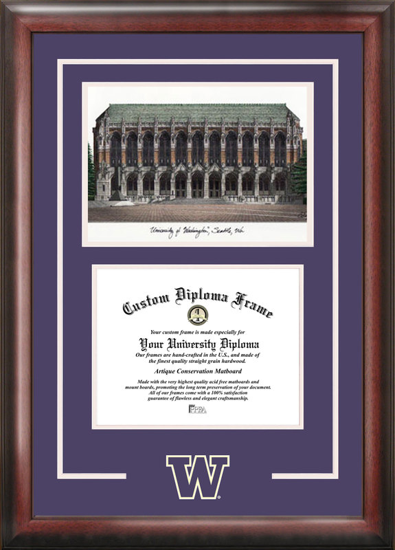 University of Washington Spirit Graduate Frame with Campus Image