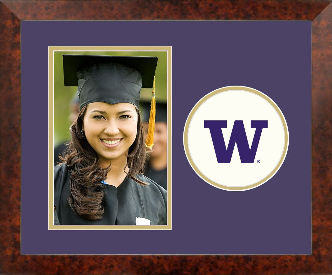 University of Washington Spirit Photo Frame (Vertical)