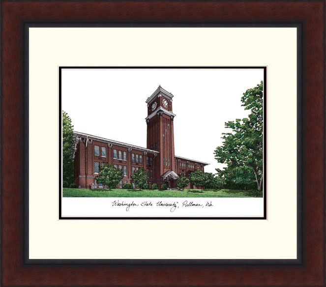 Washington State University Legacy Alumnus Framed Lithograph