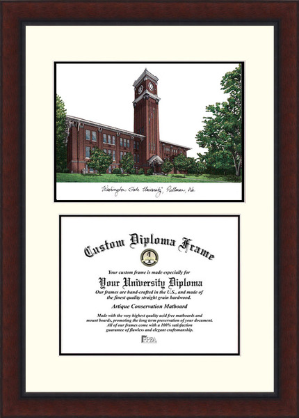 Washington State University  Legacy Scholar Diploma Frame