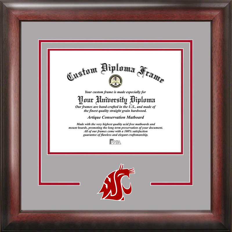 Washington State University Spirit Diploma Frame