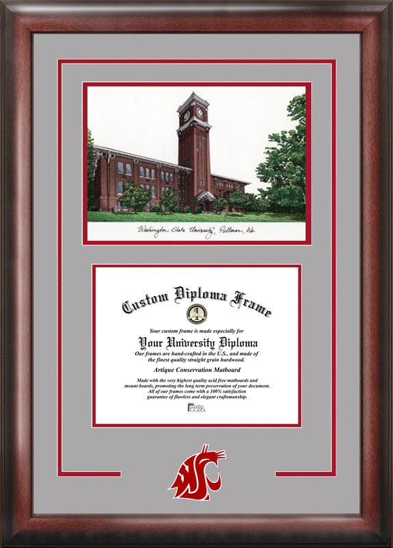 Washington State University Spirit Graduate Frame with Campus Image