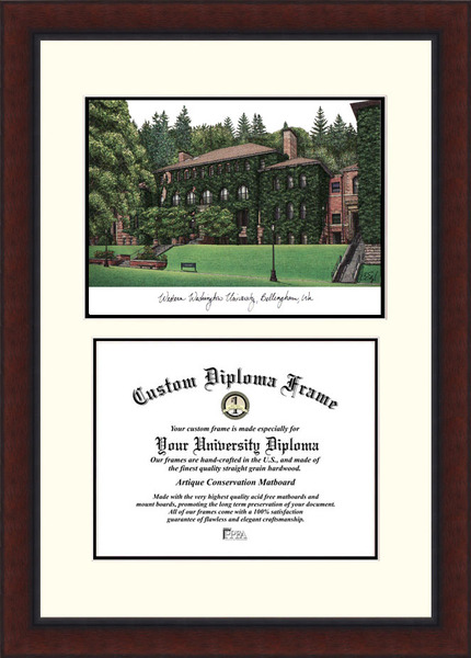 Western Washington University  Legacy Scholar Diploma Frame