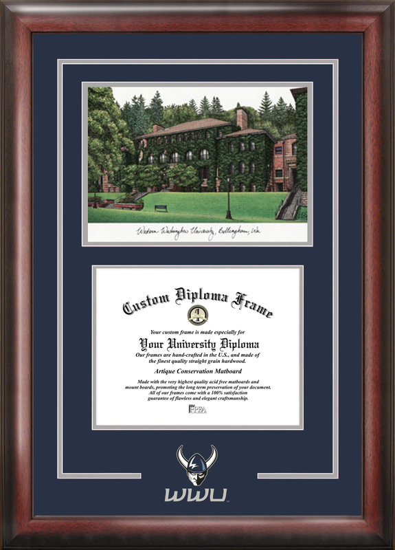 Western Washington University Spirit Graduate Frame with Campus Image