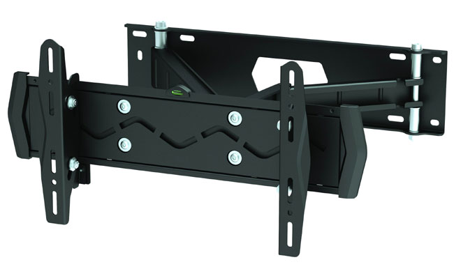 "Adjustable Tilt Swivel Dual Arm Slim Wall Mount Bracket For LED Thin LCD HDTV 23 to 42"" - WALLLED243"
