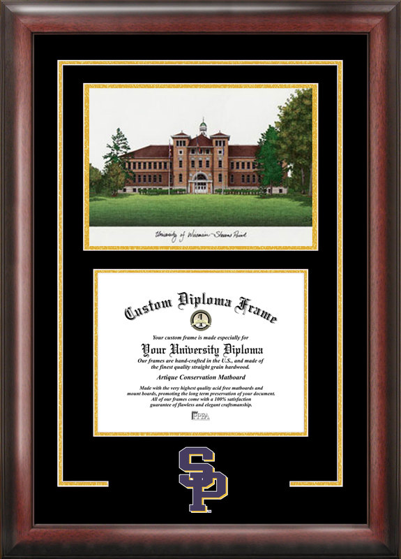 University of Wisconsin Spirit Graduate Frame with Campus Image