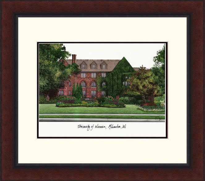 University of Wisconsin, Milwaukee Legacy Alumnus Framed Lithograph
