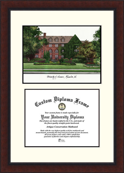 University of Wisconsin,Milwaukee  Legacy Scholar Diploma Frame