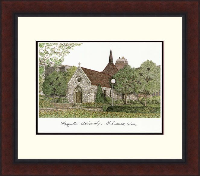Marquette University Legacy Alumnus Framed Lithograph