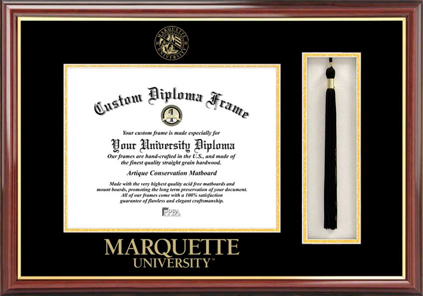 Marquette University  Tassel Box and Diploma Frame