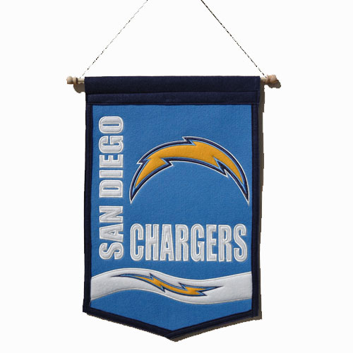 """San Diego Chargers Banner: San Diego Chargers NFL Traditions"""" Banner (12""""x18"""